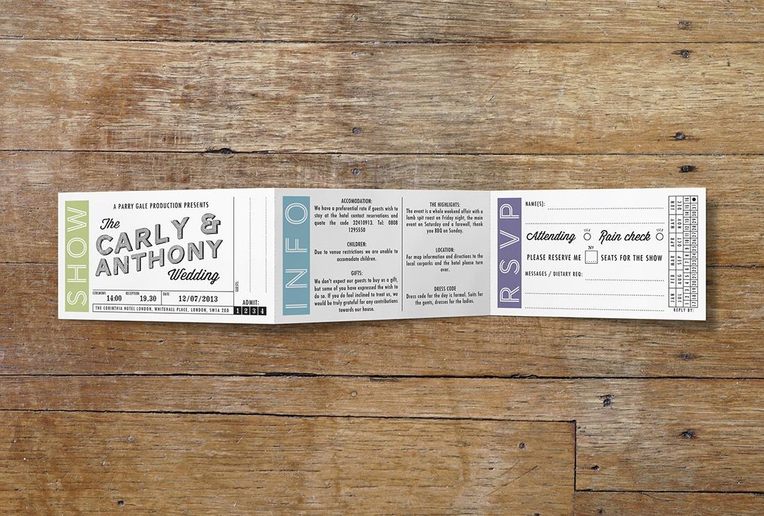 Ticket Wedding Invitations Movie Ticket Wedding Stationery Vintage