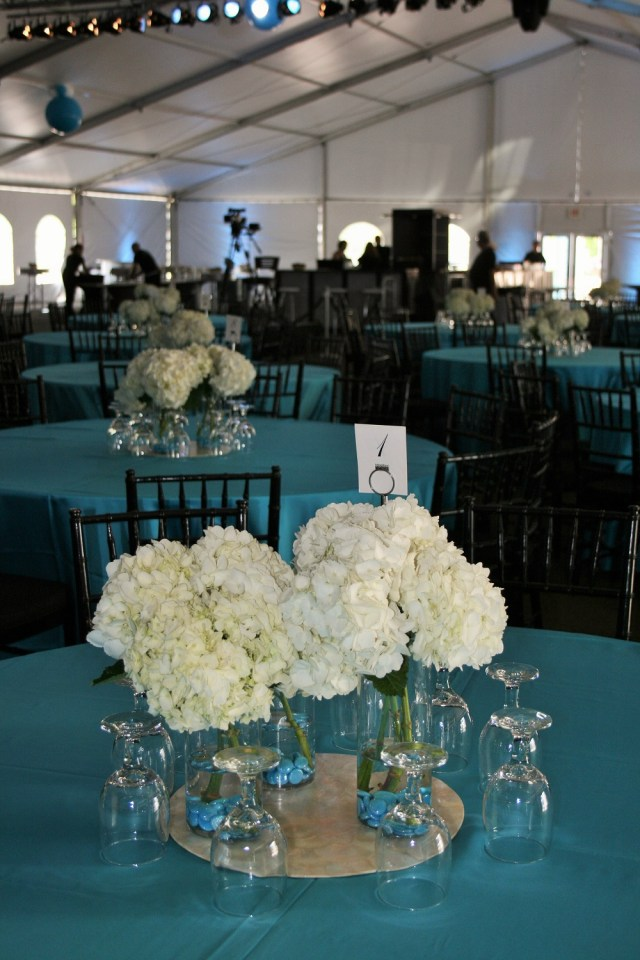 Turquoise And White Wedding Decorations White Flowers White Hydrangea Turquoise Wedding White