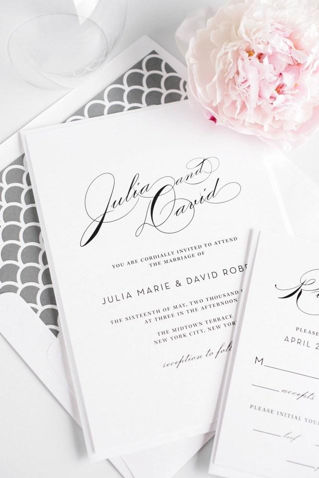 Typography Wedding Invitations Vintage Typography Wedding Invitations In Silver Wedding Invitations