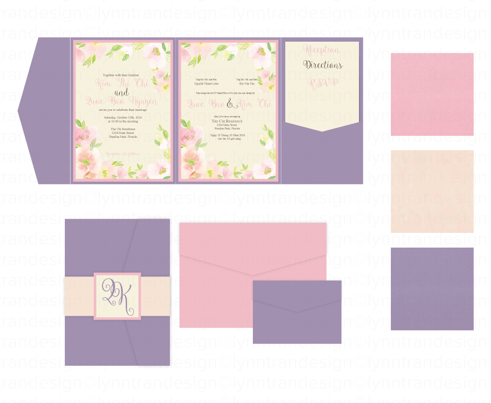 Vietnamese Wedding Invitations Custom Vietnamese English Bilingual Wedding Invitations Www