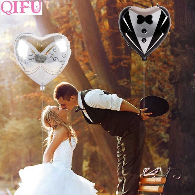 Wedding Balloon Decor Detail Feedback Questions About Qifu Bride And Groom Mr Mrs Wedding