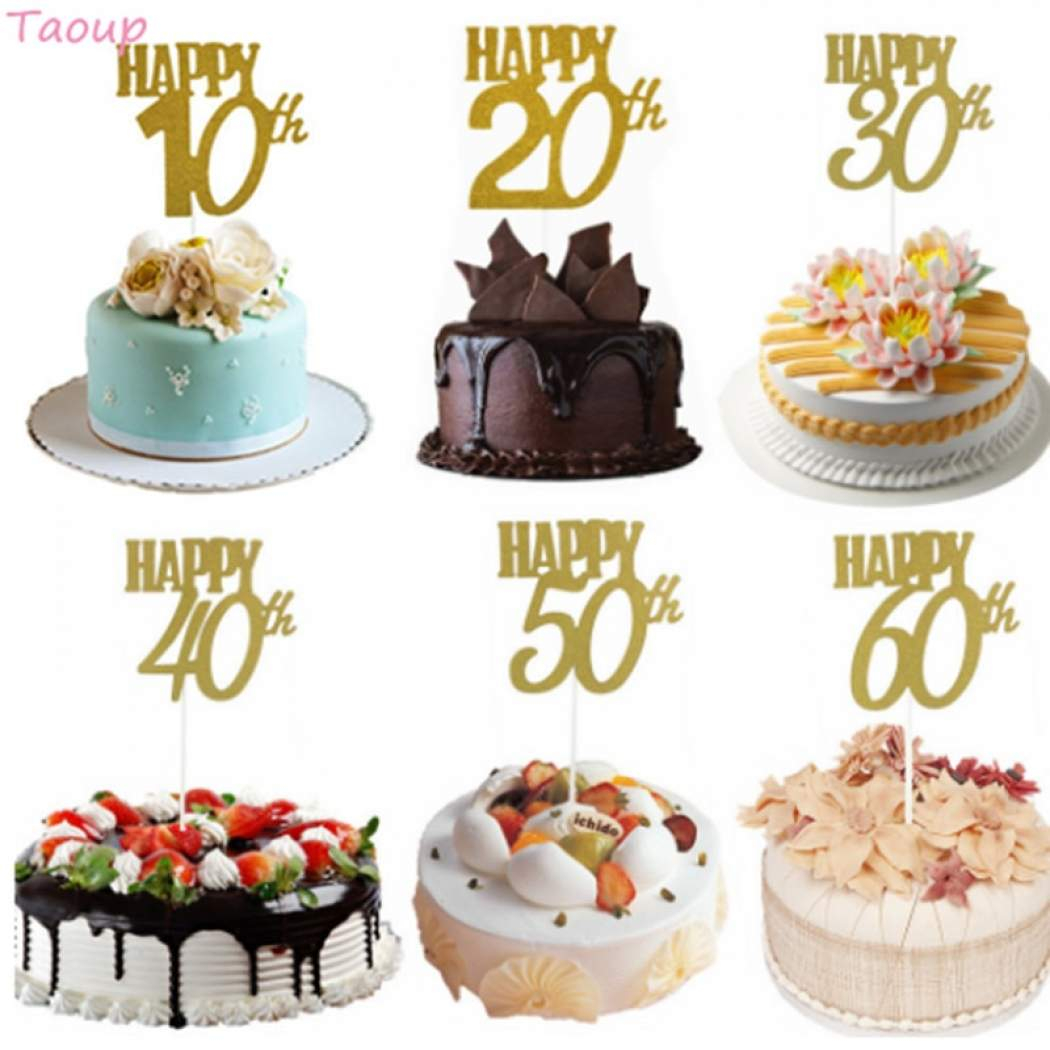 Wedding Cake Decorating Supplies Senarai Harga Taoup 10 20 30 40 50 60 Happy Birthday Cake Topper