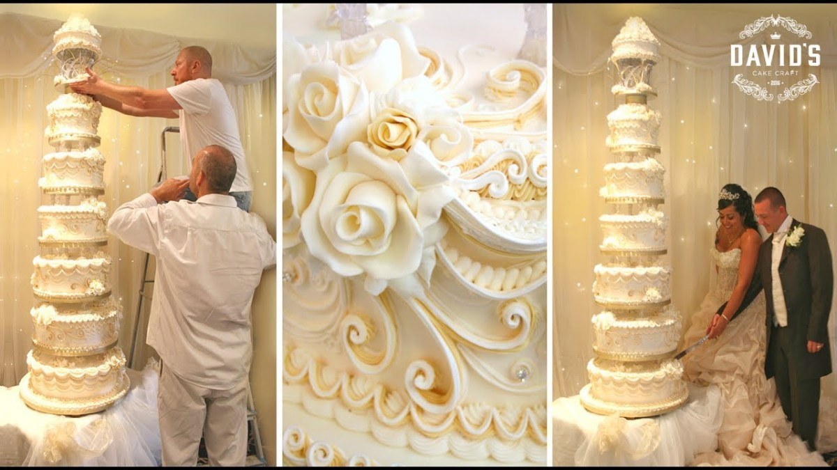 Wedding Cake Decoration Cake Decorating Techniques How To Decorate Giant Wedding Cakes