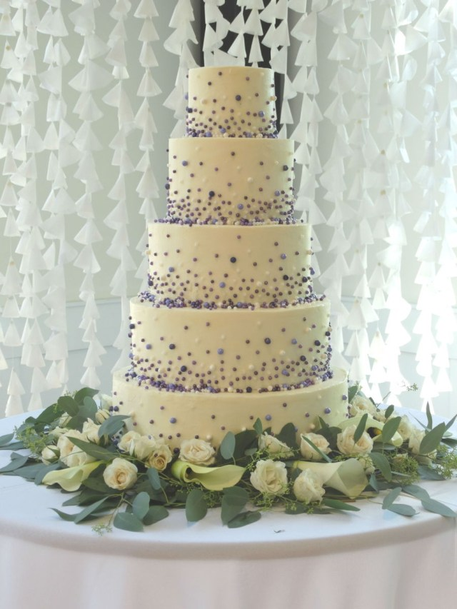 Wedding Cake Pearl Decorations Cascading Pearls Wedding Cake Cakecentral