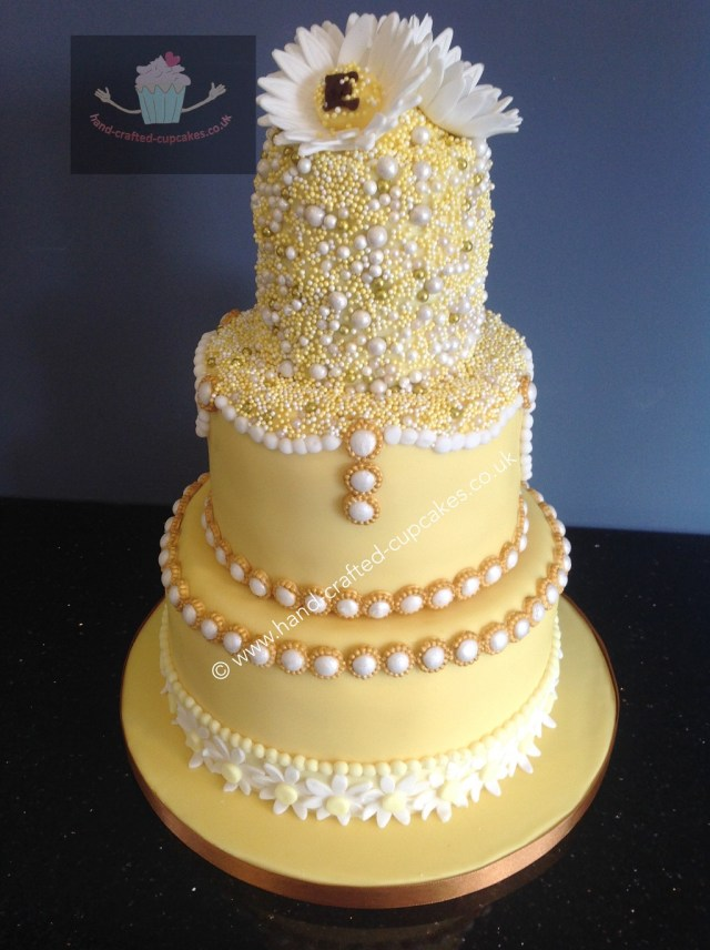 Wedding Cake Pearl Decorations Hand Crafted Personalised Wedding Cakes And Cupcakes