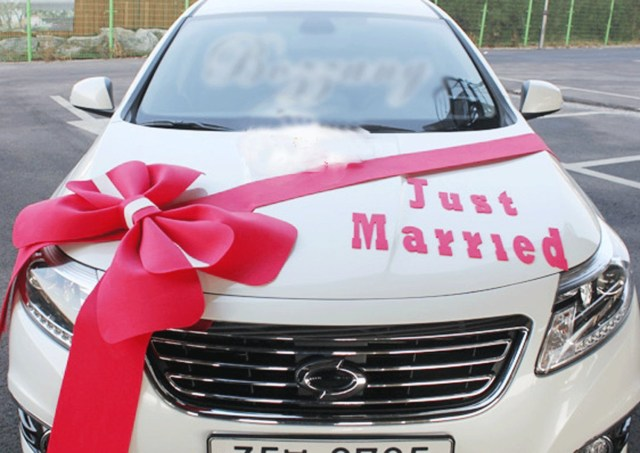 Wedding Car Decoration Kit Wedding Car Decorations Kit Big Ribbons Red Bows Set Just Etsy
