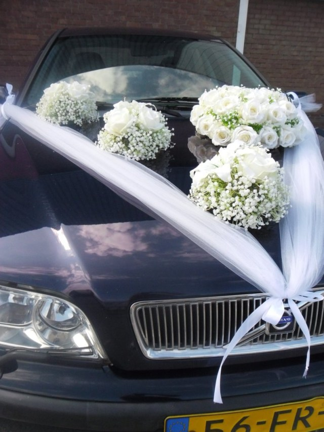 Wedding Car Decoration Wedding Car Decoration Round Bouquet Of Silk Roses Lilly And Etsy
