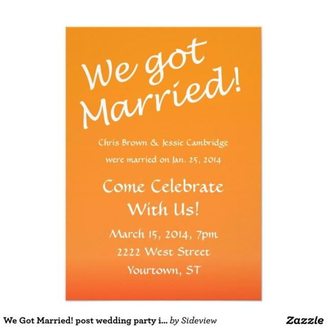 Wedding Celebration Invitations After Wedding Celebration Invitation Wording Wedding Celebration
