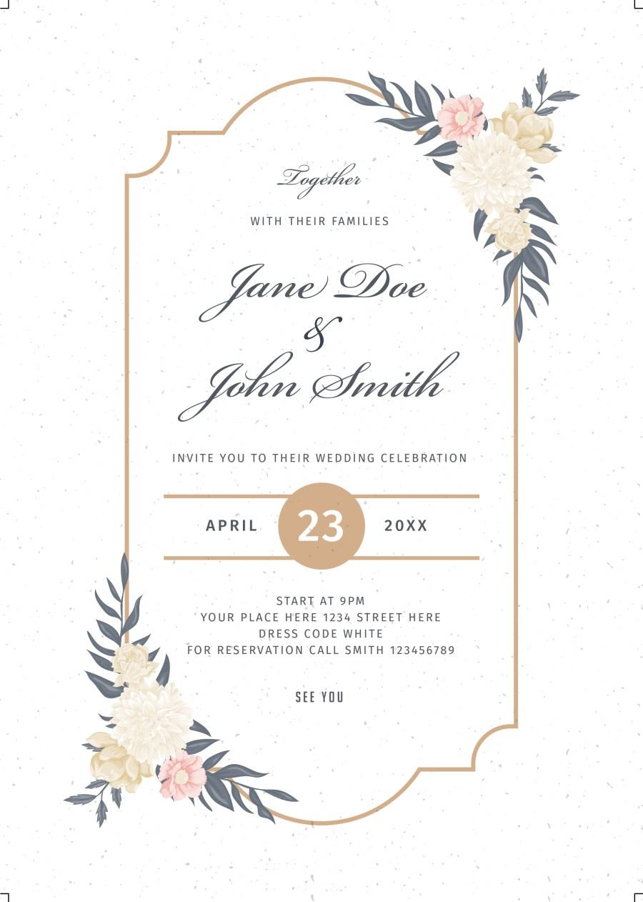 Wedding Celebration Invitations Floralwedding Invitation Bnr Graphics