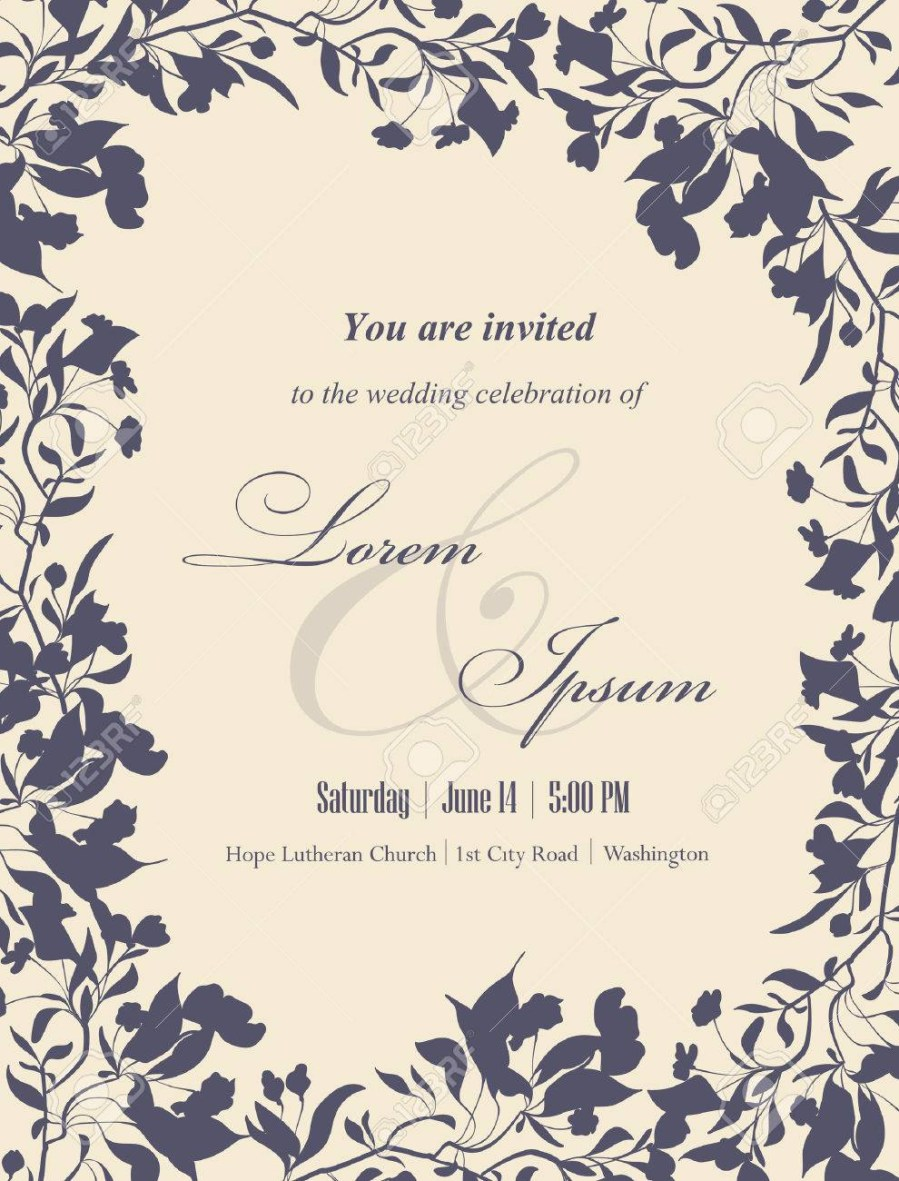 Wedding Celebration Invitations Wedding Invitation Cards With Floral Elements Floral Frame And