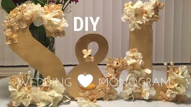 Wedding Decoration Ideas Diy Diy Wedding Decorations Wooden Monogram Set Tutorial Youtube