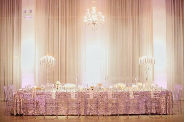 Wedding Head Table Decor Weddding Head Table Decor Glamorous Sequin Chez Wedding Venue