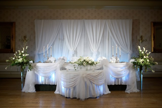 Wedding Head Table Decor Wedding Chapel Decor Packages At The Old Mill Toronto