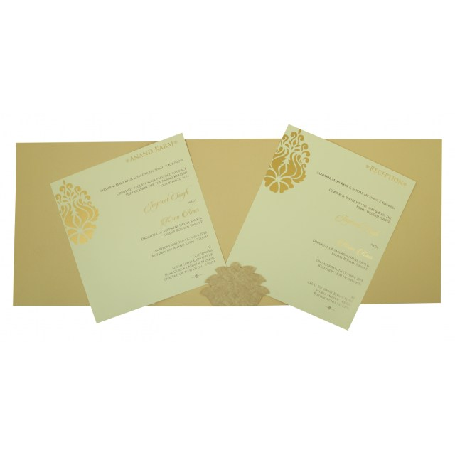 Wedding Invitation Assembly Sand Matte Damask Themed Laser Cut Wedding Invitation In 1811