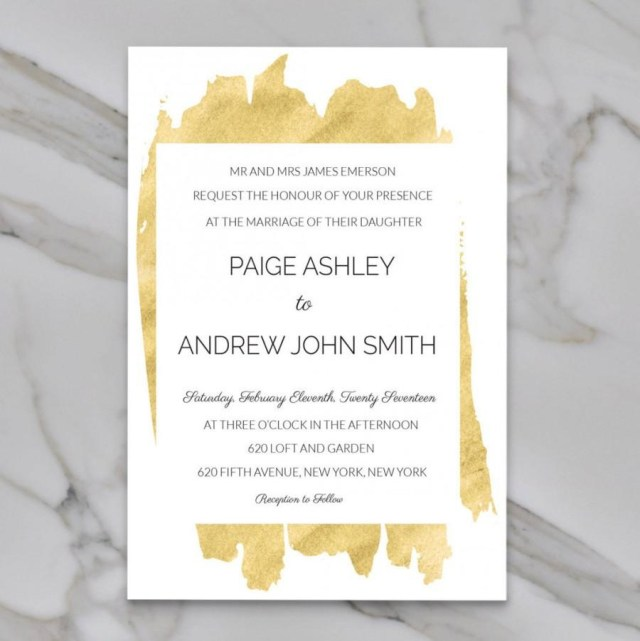 Wedding Invitation Editable Template Modern Wedding Invitation Gold Editable Diy Spring Printable