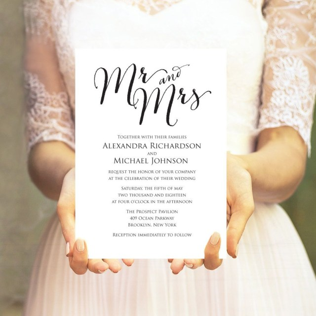 Wedding Invitation Editable Template Wedding Invitation Template Editable Template Diy Wedding
