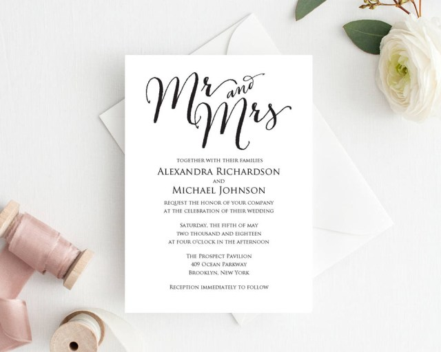 Wedding Invitation Editable Template Wedding Invitation Template Wedding Templates And Printables