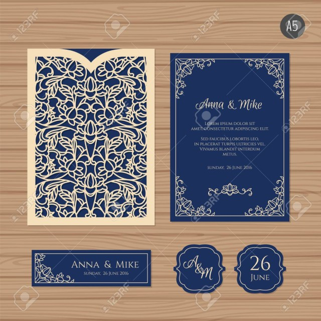 Wedding Invitation Envelope Wedding Invitation Or Greeting Card With Vintage Ornament Paper