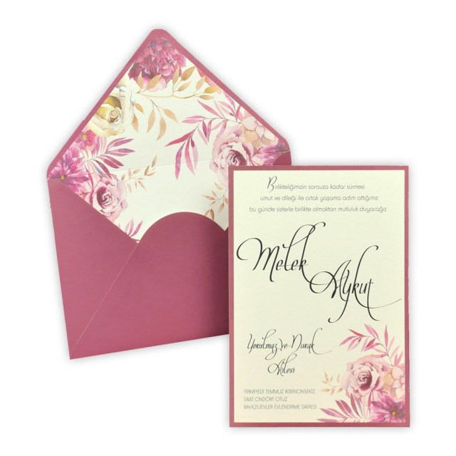 Wedding Invitation Envelopes Wedding Invitation With Envelope Insert Floral Design 5579 Alawwa