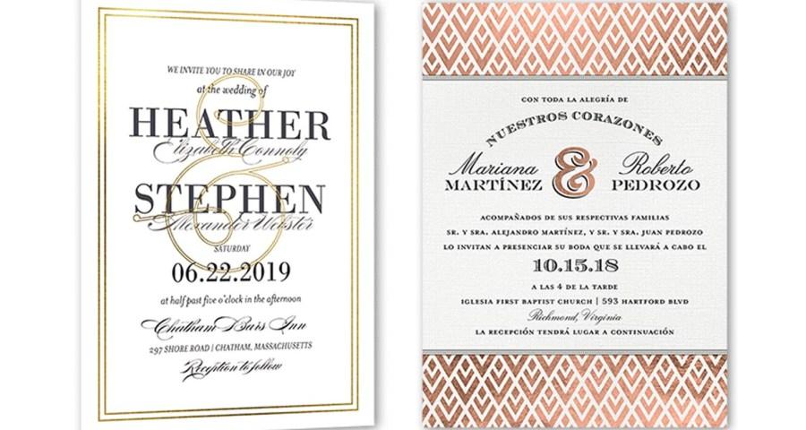 Wedding Invitation Examples 35 Wedding Invitation Wording Examples 2018 Shutterfly