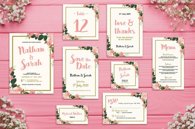 Wedding Invitation Examples 50 Wonderful Wedding Invitation Card Design Samples Kinginexile