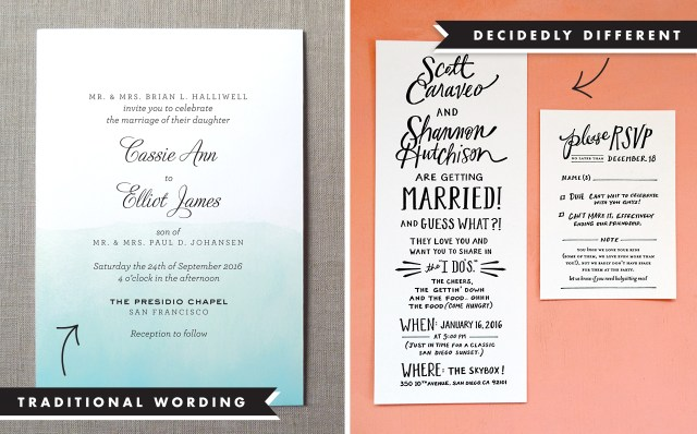 Wedding Invitation Examples Wedding Invitation Wording And Etiquette