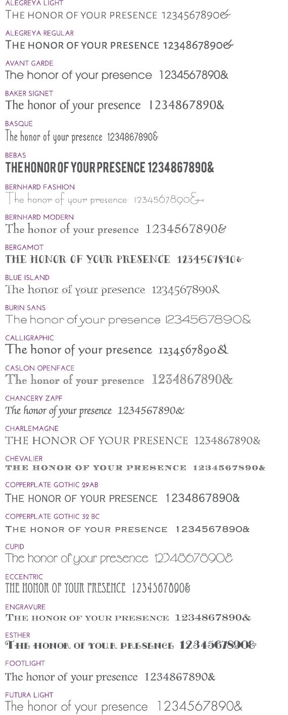 Wedding Invitation Fonts Wedding Invitation Fonts Invitations Dawn