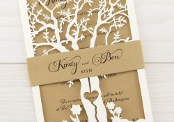 Wedding Invitation Images Laurel Tree With Belly Band Wedding Invitation Pure Invitation