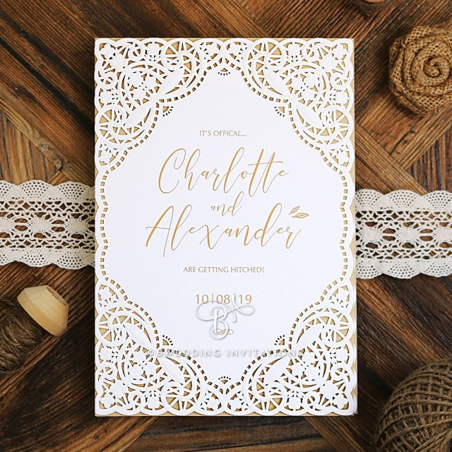 Wedding Invitation Images Ornate Elegance Elegant Laser Cut Wedding Invitations De