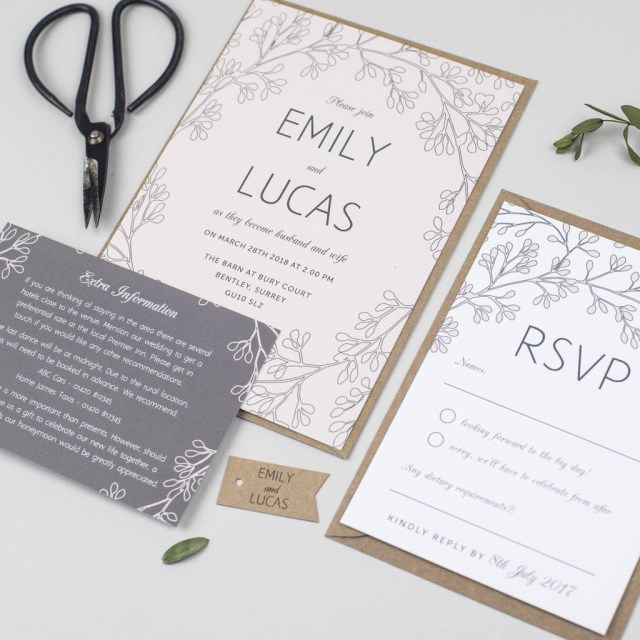 Wedding Invitation Images Secret Garden Wedding Invitation Pear Paper Co