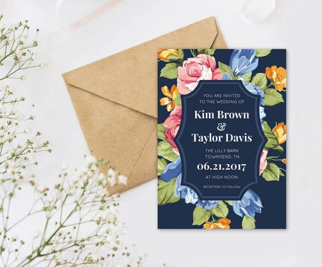 Wedding Invitation Maker Wedding Invitation Wording Picmonkey