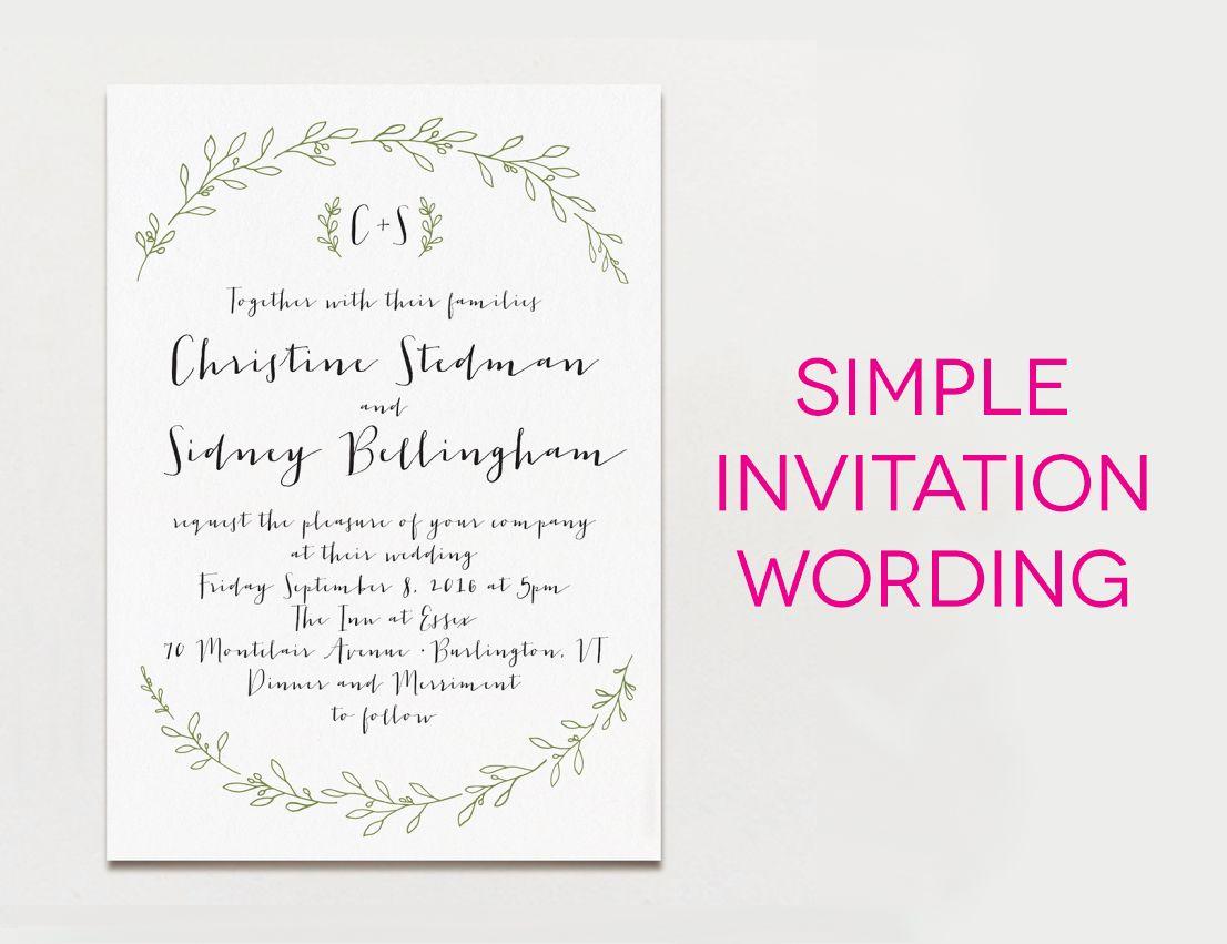 Wedding Invitation Message Wedding Invitation Wording Formal Modern Fun Design