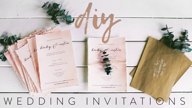 Wedding Invitation Pictures Diy My Wedding Invitations With Me Youtube