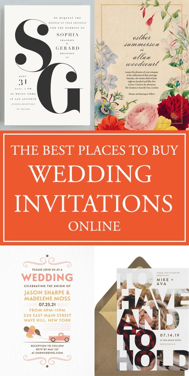 Wedding Invitation Pictures The Best Places To Buy Your Wedding Invitations Online Junebug