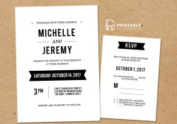 Wedding Invitation Rsvp Diy Free Pdf Printable Wedding Invitation And Rsvp Wedding