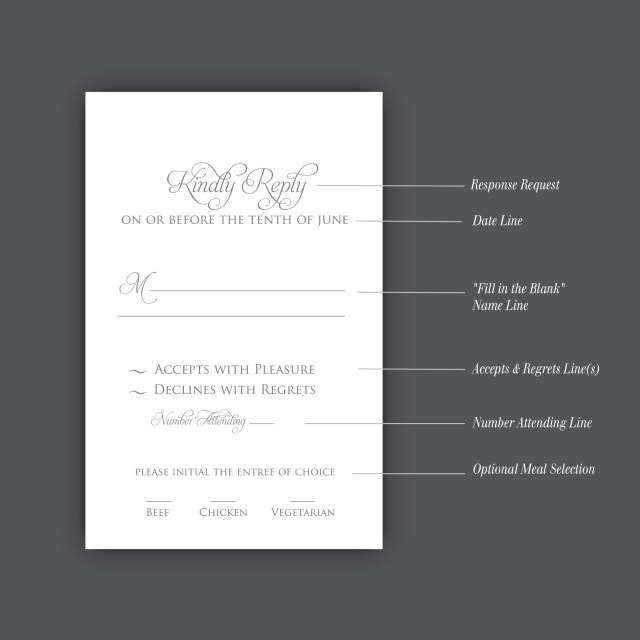 Wedding Invitation Rsvp How To Correctly Word Your Wedding Rsvp Card Meldeen