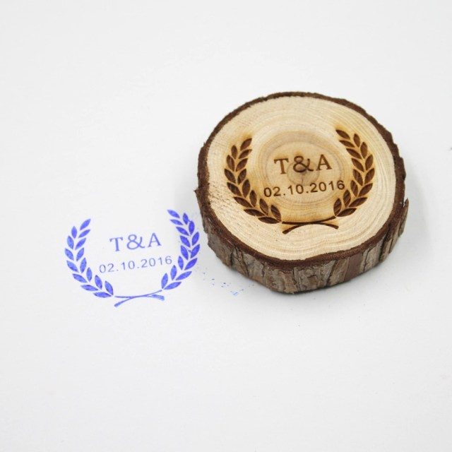 Wedding Invitation Stamps Free Shipping Personalized Wedding Stamp Custom Wood Stamp With Your