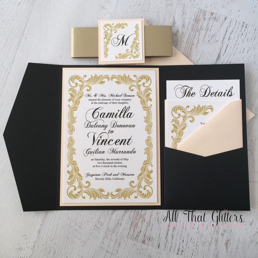 Wedding Invitation Suites Camilla Vintage Wedding Invitation Suite All That Glitters