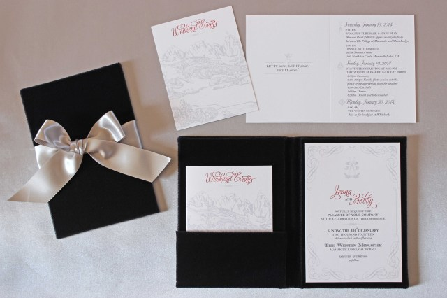 Wedding Invitation Suites Winter Wedding Ideas Winter Wedding Invitations Inside Weddings