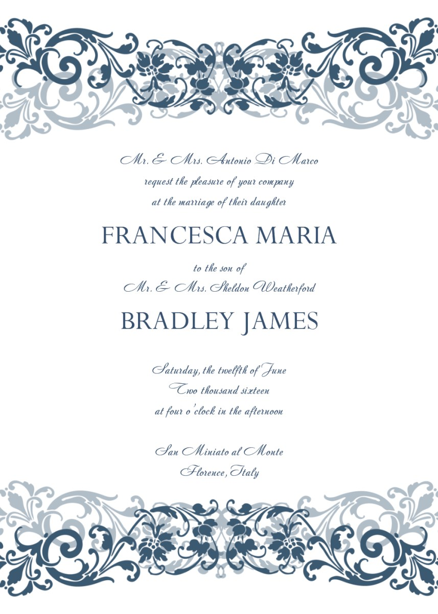 32+ Great Photo of Wedding Invitation Template Free
