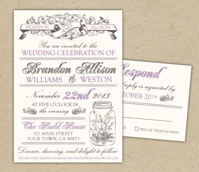 Wedding Invitation Template Free Free Templates For Invitations Free Printable Vintage Wedding