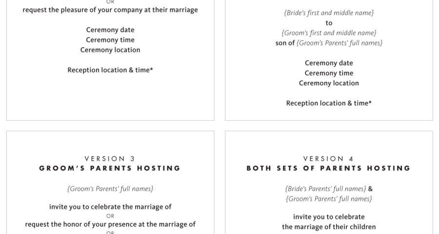 Wedding Invitation Wording Etiquette Wedding Invitation Wording And Etiquette