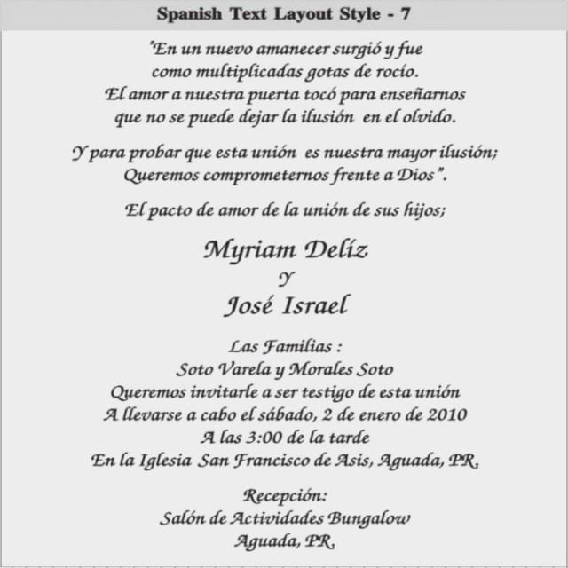 Wedding Invitation Wording In Spanish 11 Easy Rules Of Spanish Wedding Invitation Wedding Ideas