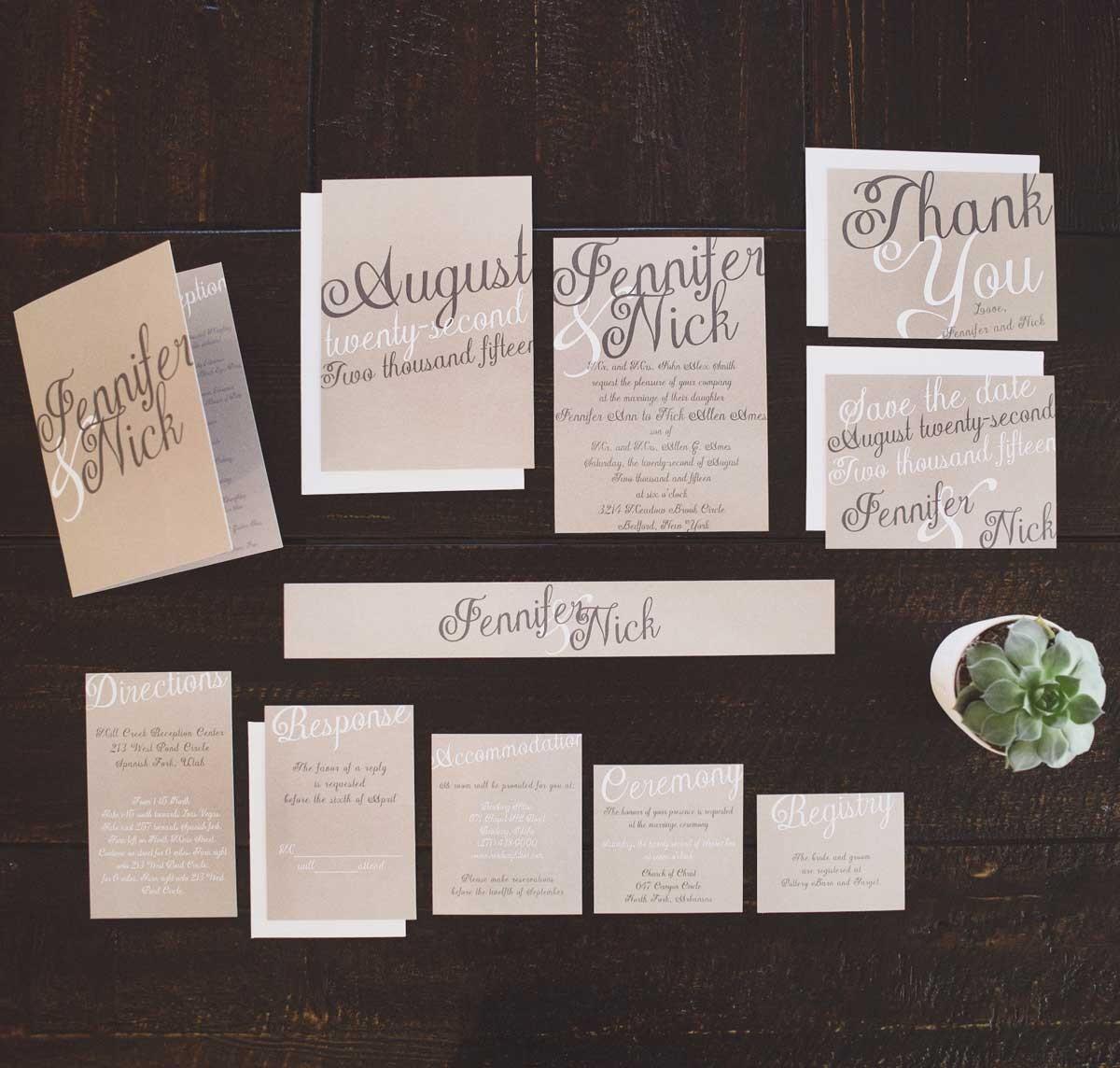 Wedding Invitations On Kraft Paper Brown Paper Wedding Invitations The Elegant Kraft Wedding Invitation