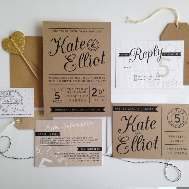 Wedding Invitations On Kraft Paper Kraft Paper Wedding Invitations Kraft Paper Wedding Invitations