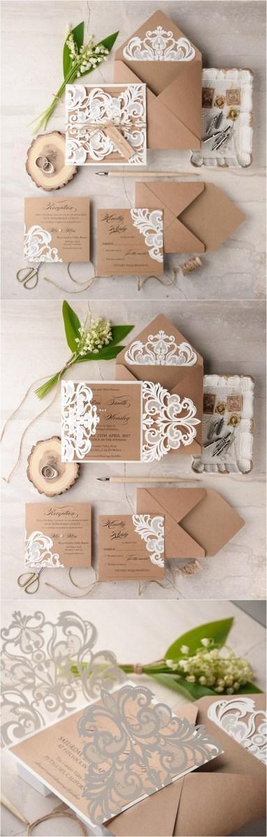 Wedding Invitations On Kraft Paper We Love Laser Cut Wedding Invitations 4lovepolkadots Deer Pearl