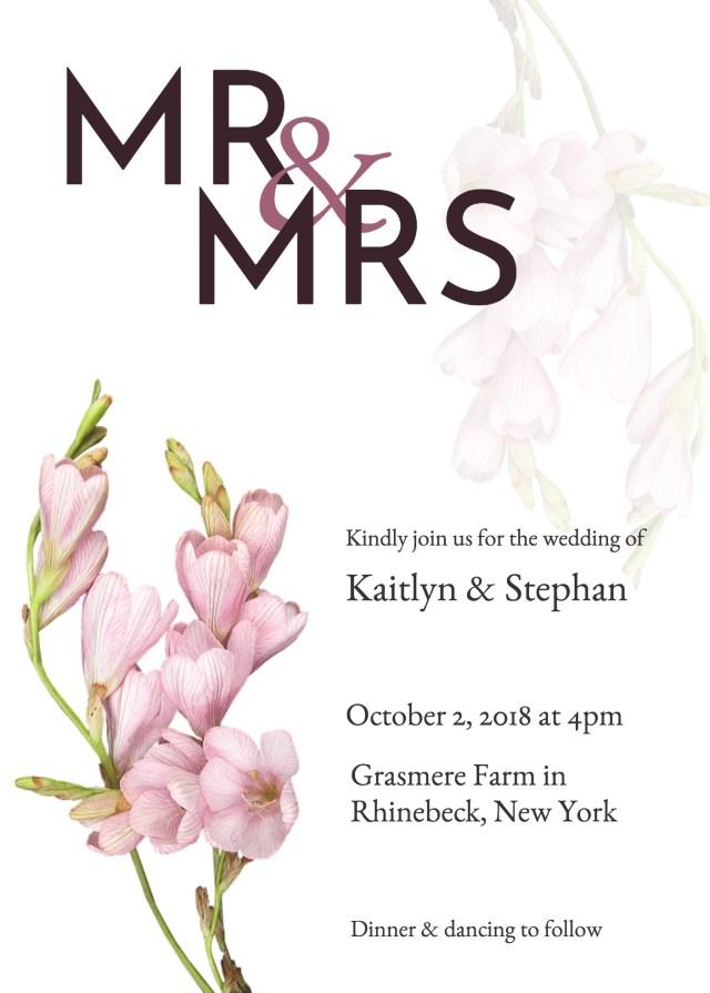 Wedding Invitations Printable 19 Diy Bridal Shower And Wedding Invitation Templates Venngage