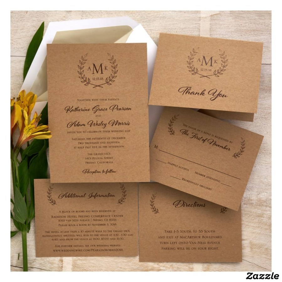 Wedding Invitations Sets Embossed Wedding Invitation Set Raised Ink In 2018 Zazzle