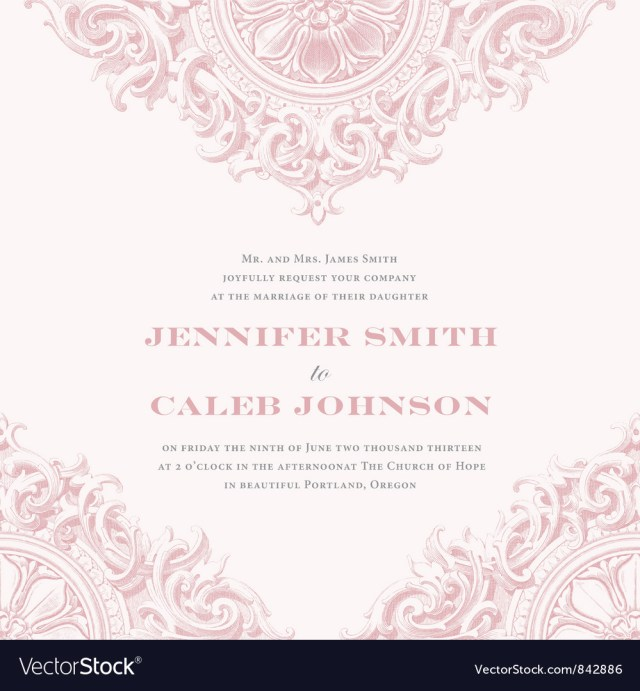 Wedding Invitations Template Wedding Invitation Templates Royalty Free Vector Image