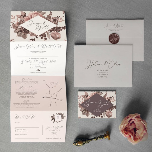 Wedding Invitations With Photo Belle Concertina Wedding Invitation Feel Good Wedding Invitations